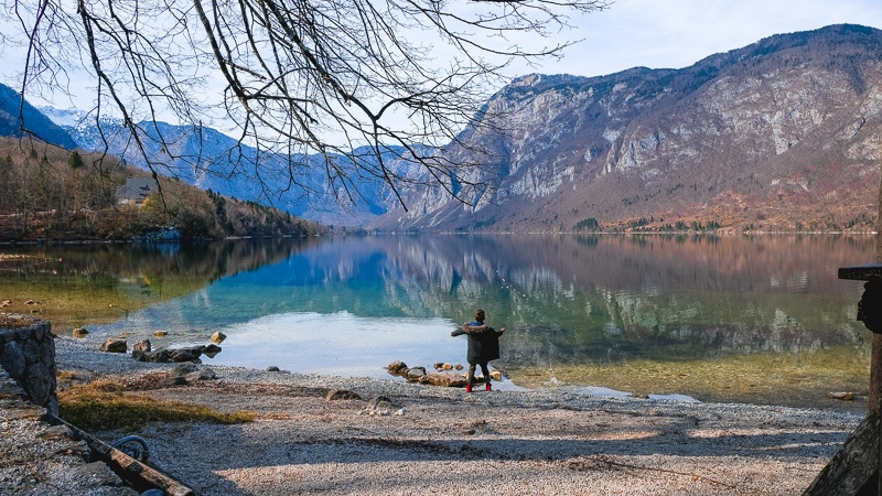 3 days in Slovenia Itinerary - Lake Bohinj with kids