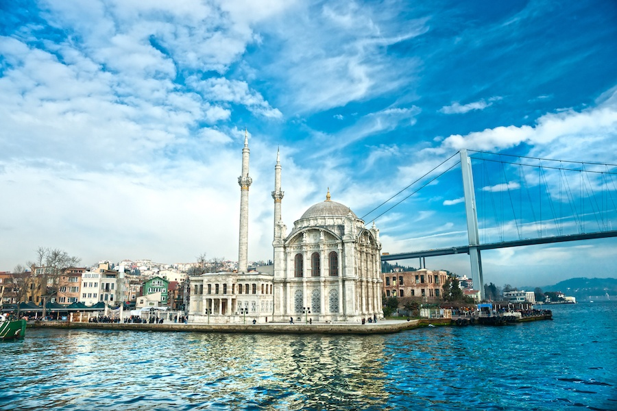Best Things To Do In Istanbul - Ortakoy mosque and Bosphorus bridge