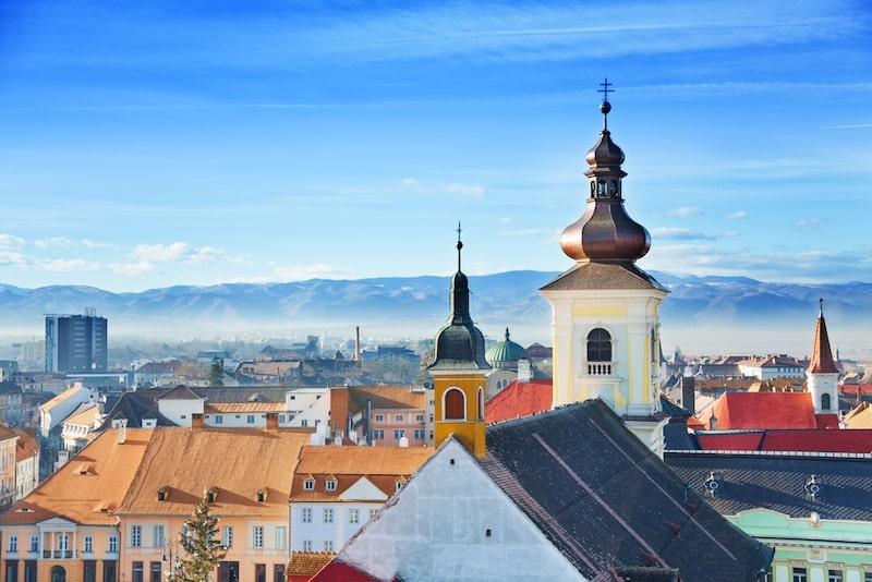 Best Hotels In , Sibiu, Romania - Roman Catholic Church and old town in Sibiu