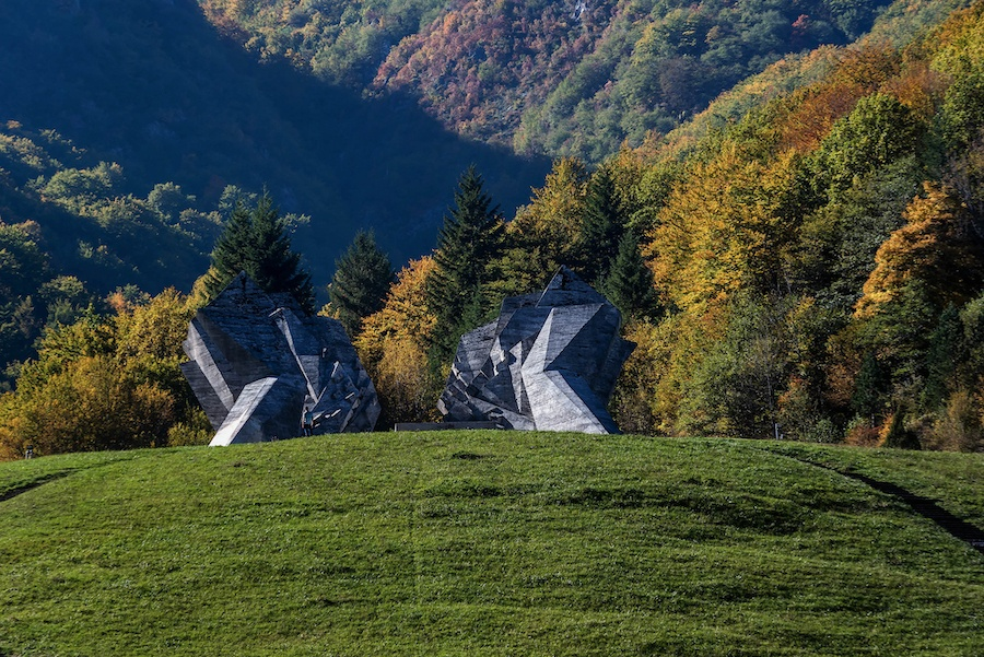 National Parks In Bosnia Herzegovina - War Memorial Statue in Sutjeska National Park