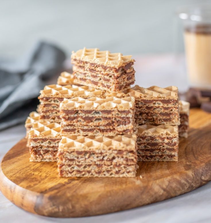 Oblatne S Čokoladnom Karamel Kremom Recipe (Tort Wafers Cake)