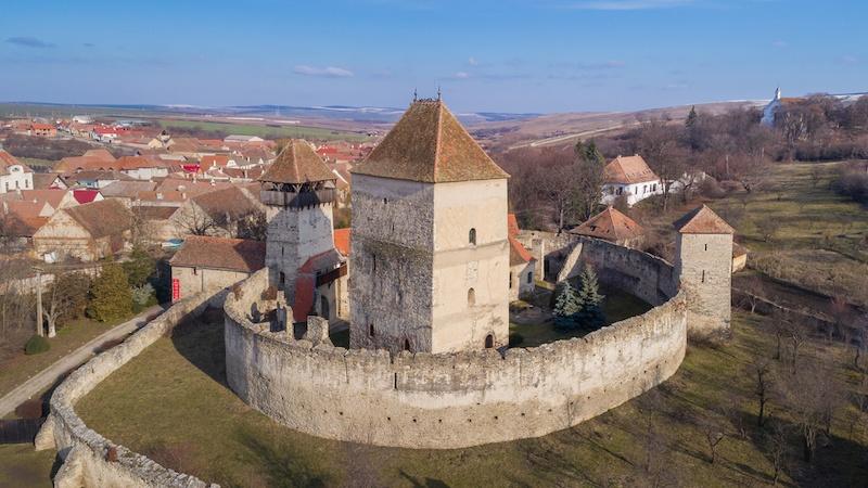 The Calnic fortress. Transylvania, Romania