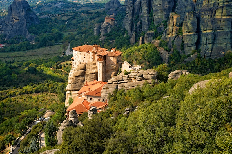 Greece With KIds - What to do in Greece with kids -Roussanou monastery at Meteora, Greece