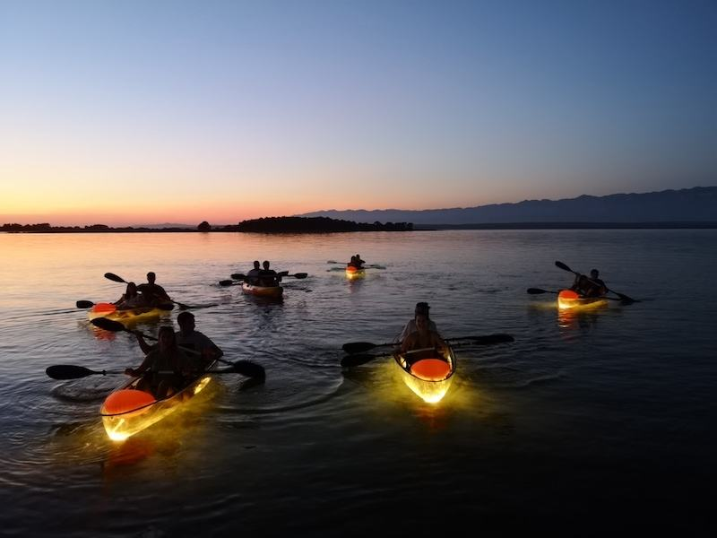 KAYAKING CROATIA_SEA ADVENTURES PRIVLAKA_NIGHT