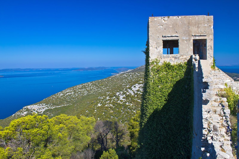 St. Michael Fort on top of Island Ugljan
