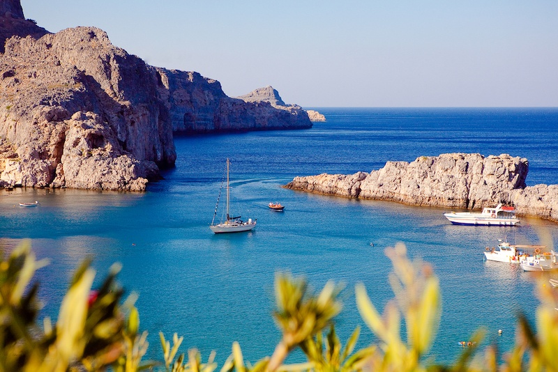 How To Visit The Greek Islands From Turkey In One Day - Rhodes, Lindos bay