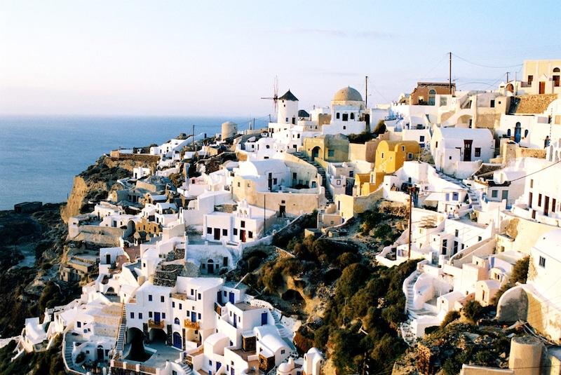 Winter in Greece - Small town Oia on Santorini