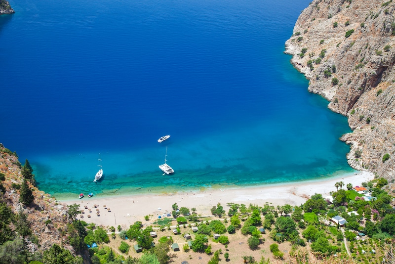 Best beaches in Turkey - Butterfly Valley in Oludeniz