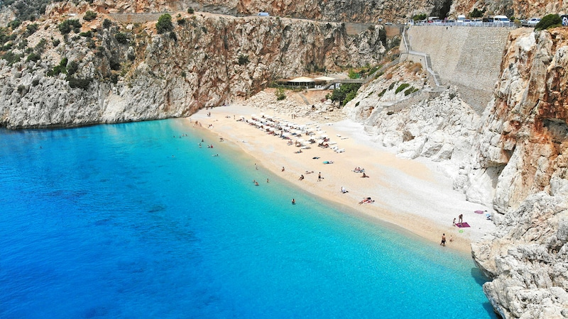 Best beaches in Turkey - Kaputas beach Antalya