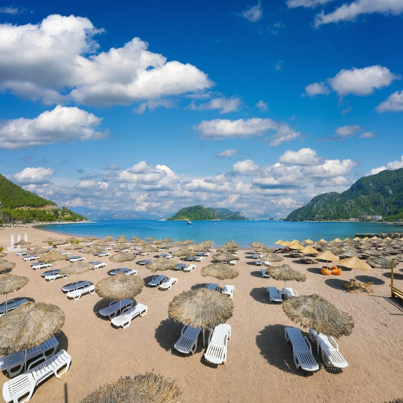 Best beaches in Turkey - beach in Icmeler