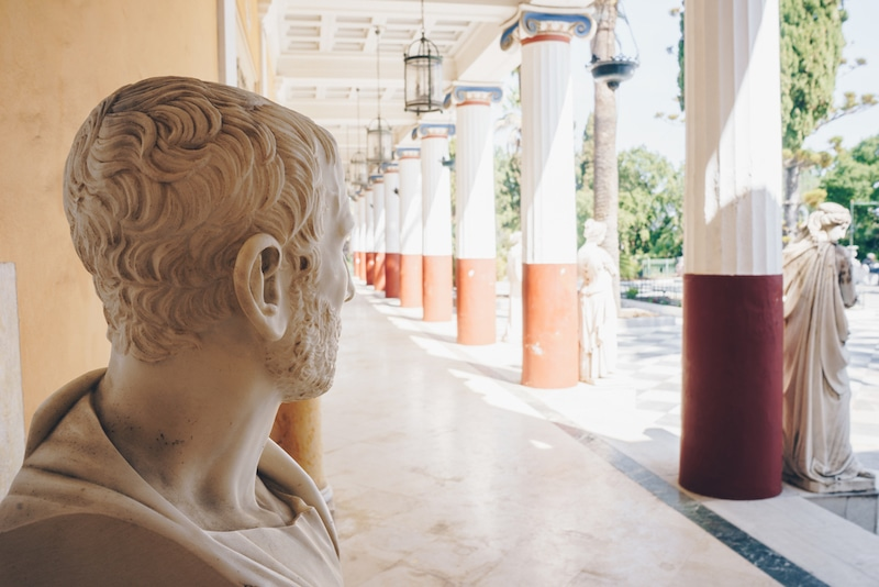 Ideas For Things To Do In Corfu In Winter For Everyone - Busts in Achillion Palace