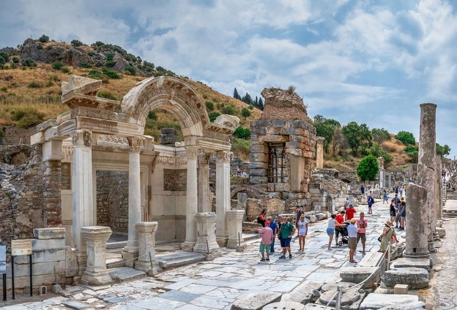 Visiting Ephesus Turkey. Temple Of Hadrian