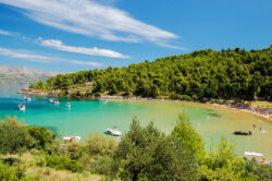 Sandy beaches in Croatia - Picturesque landscape of sandy Lovrecina beach on Brac