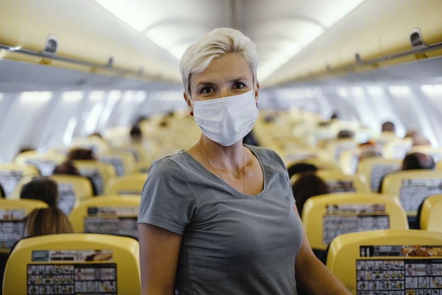 What to wear on a long haul flight - Mask