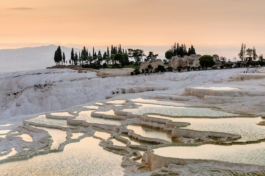 How To Get From Pamukkale To Cappadocia - Sunset at Pamukkale