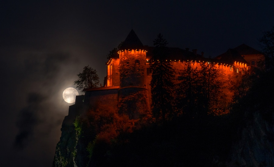 Best Castles In Slovenia - Bled Castle At Night