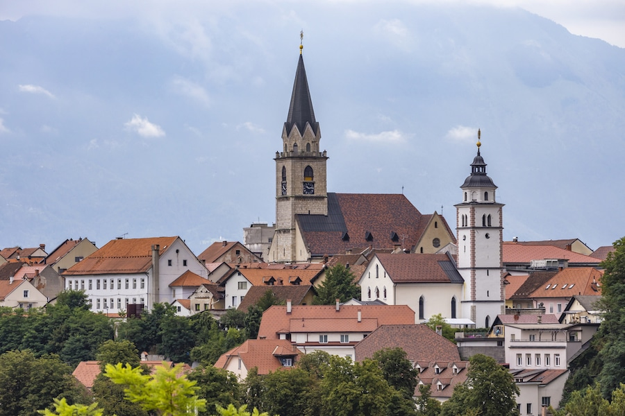 Best Day Trips From Ljubljana - Kranj town with Alps in Slovenia