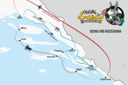 Map On How To Get From Dubrovnik To Split - Split To Dubrovnik Map