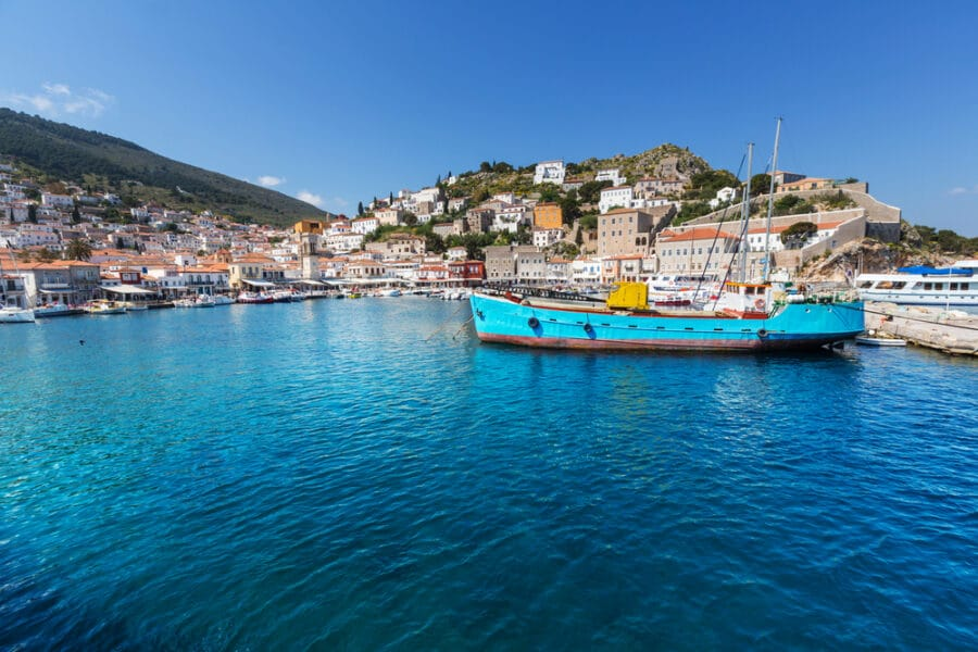 Things to do in Hydra Greece - Fishing boats in Hydra Island