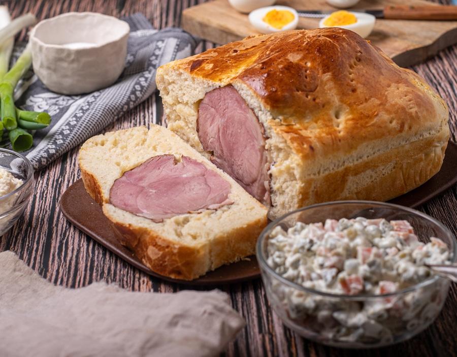 How To Make Croatian Ham In Bread Recipe (sunka u kruhu) - Croatian Easter