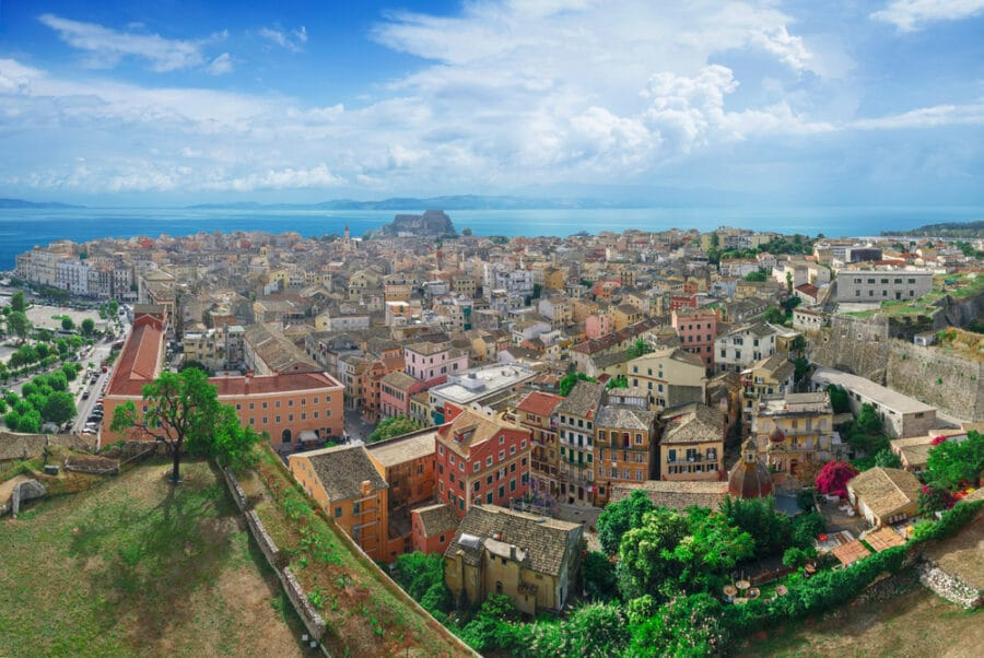 Corfu With Kids Guide - Panoramic view of Corfu town