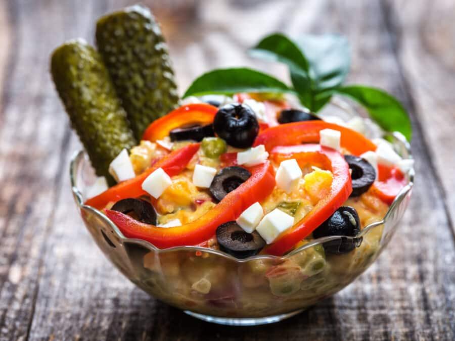 De Boeuf salad with vegetables