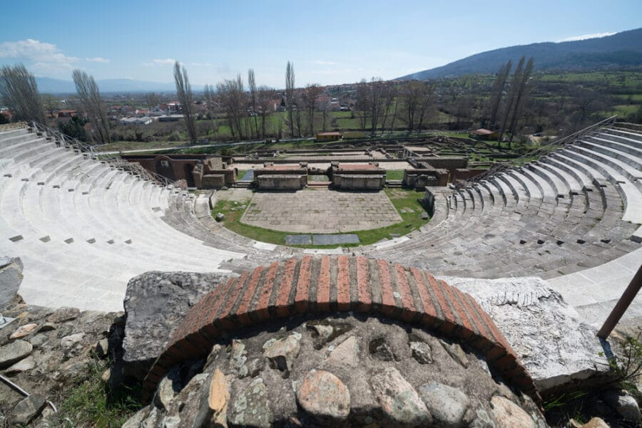 Archaeological Sites in Macedonia - Ruins of the ancient Greek city Heraclea Lyncestis in Bitola, Macedonia