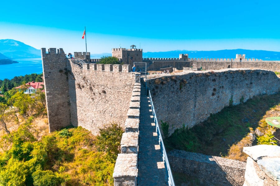 Archaeological Sites in Macedonia - Samuels Fortress in Ohrid