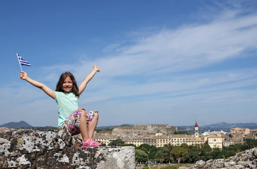 Corfu With Kids Guide - Corfu Fortress - Greece With Kids