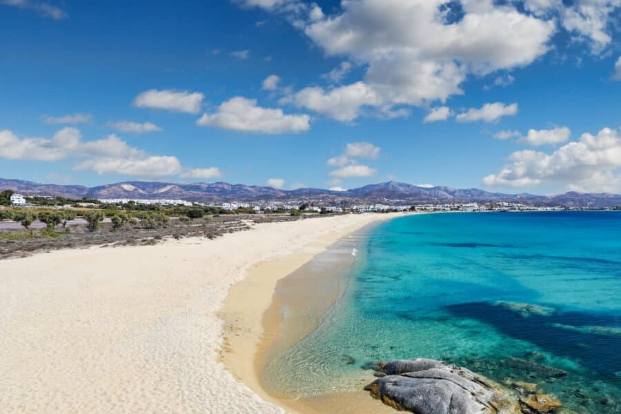 Are There Sandy Beaches In Greece - Agios Prokopios beach in Naxos island, Greece