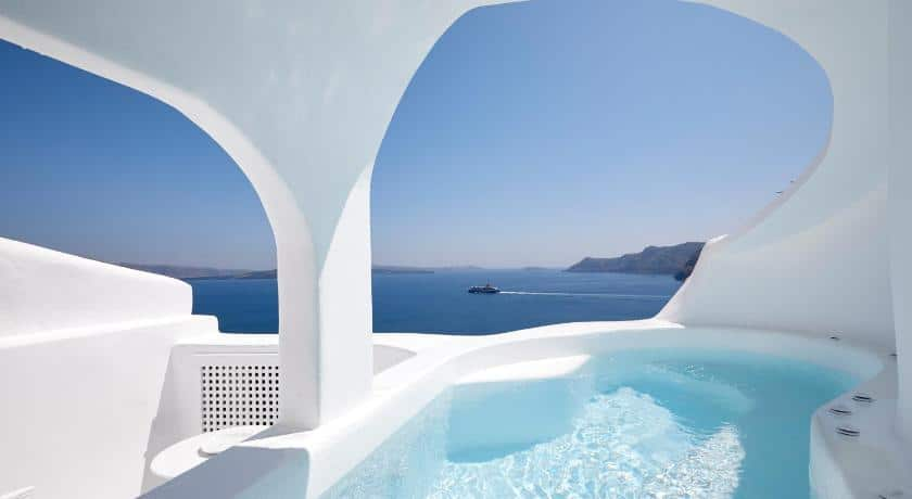 White Cave House Oia Santorini - Cave Hotels In Greece
