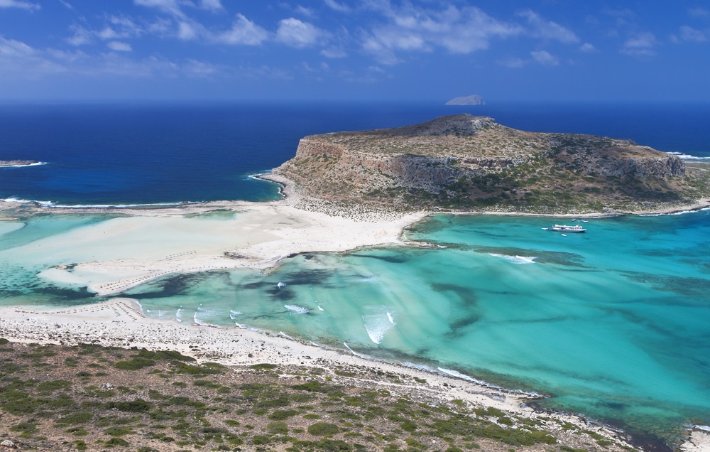 Are There Sandy Beaches In Greece - Balos beach at Crete island in Greece