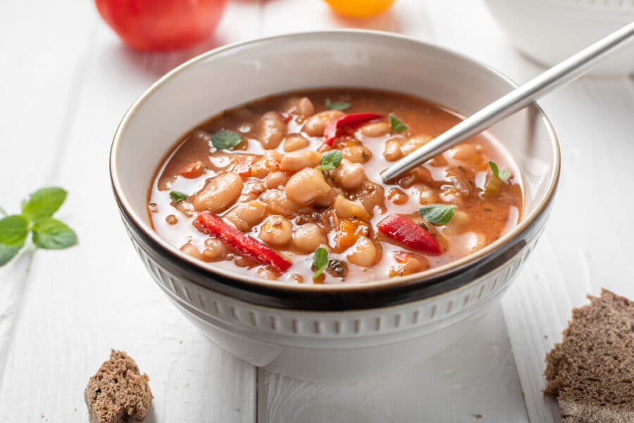 Food In Bulgaria - Bulgarian Bean Soup - Bob Chorba