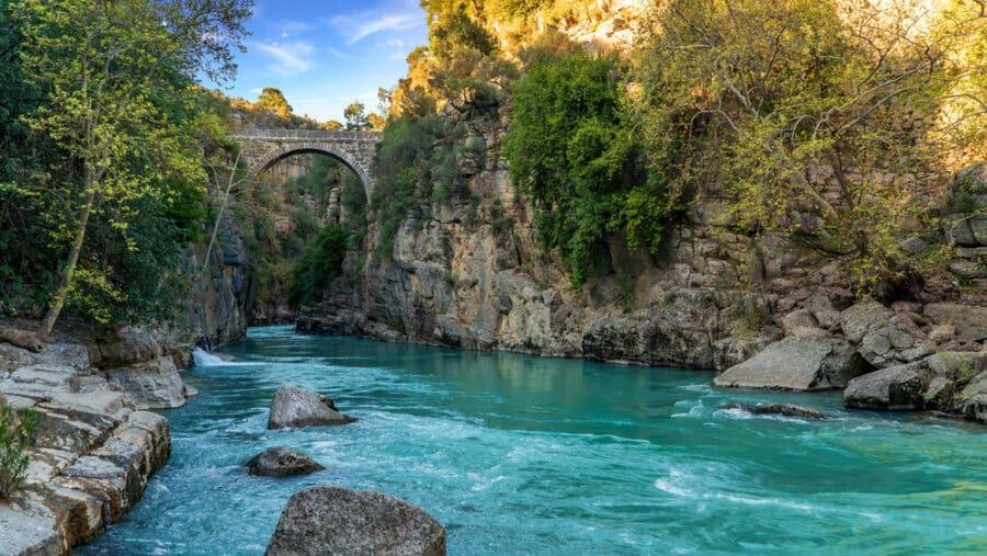 What To See In Antalya - What To See In AOluk Bridge across Kopru Irmagi creek in Koprulu Kanyon