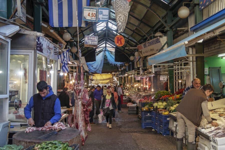 Things to do in Thessaloniki Greece - Thessaloniki, Greece - March 04 2016: Kapani open public market
