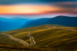 Driving through the Balkans - Your Guide to Driving In The Balkans - Transalpina and the Carpathians at sunset