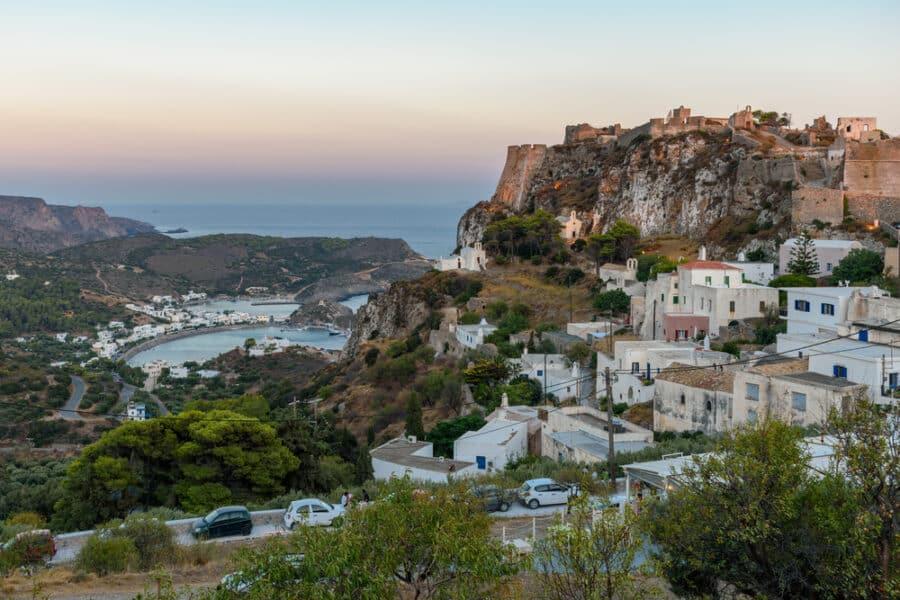 Island Of Kythira Greece - Chora, Kapsali village view at Sunset