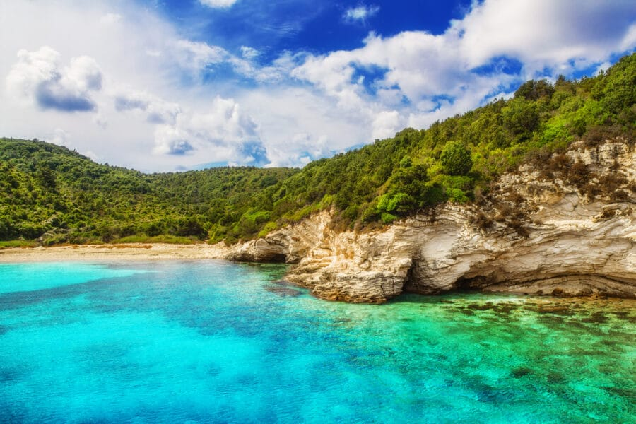 Are There Sandy Beaches In Greece - Voutoumi beach, Antipaxos island, Greece