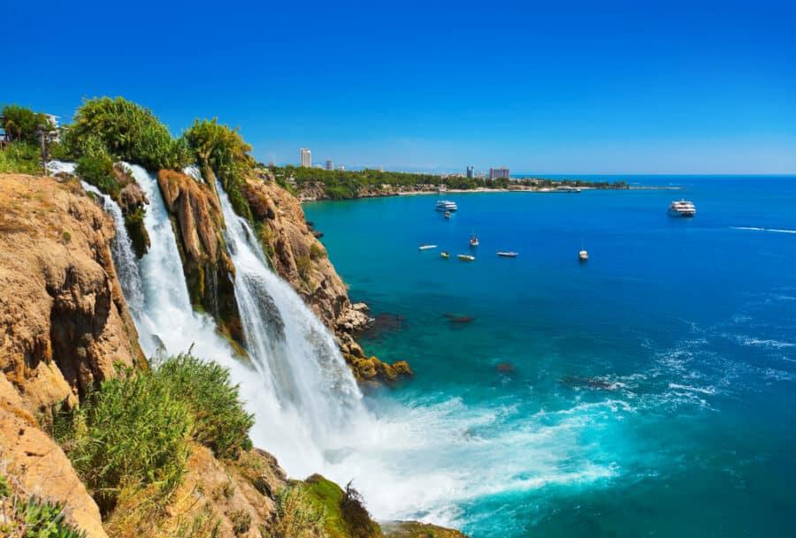 What To See In Antalya - Waterfall Duden at Antalya, Turkey