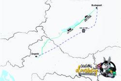 Zagreb To Budapest To Zagreb Map