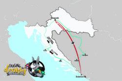 Zagreb To Dubrovnik To Zagreb Map