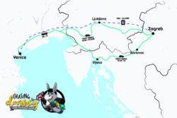 Zagreb To Venice To Zagreb Map