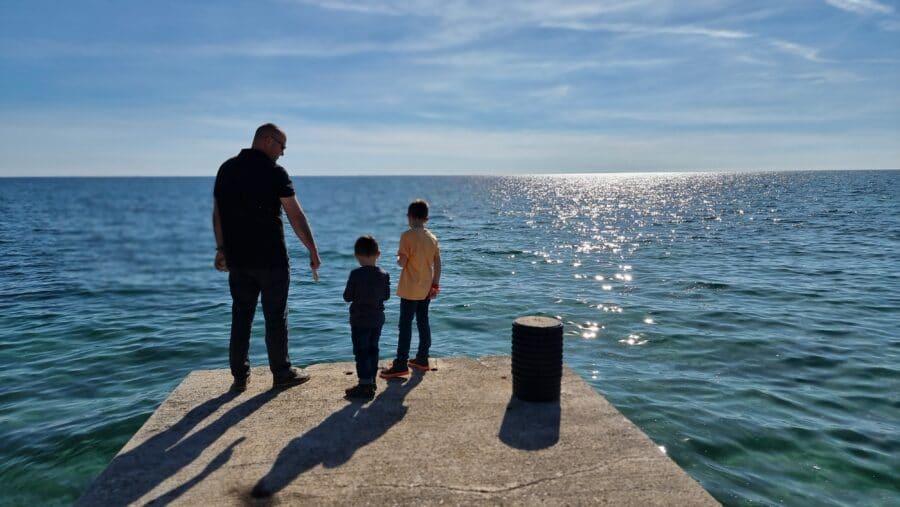 Expat in Croatia - Boys at the Marina