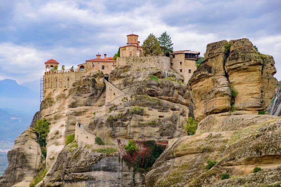 Meteora Monasteries_Monastery of Varlaam on the rock, the second largest Eastern Orthodox monastery in Meteora, Greece