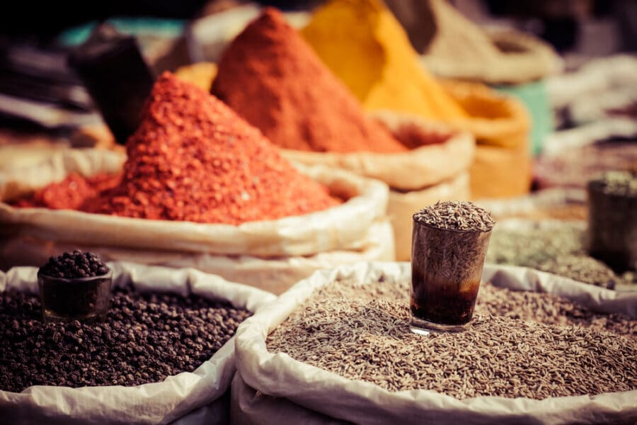 Best Gifts From Turkey - Oriental Spices in a shop in Istanbul, Turkey