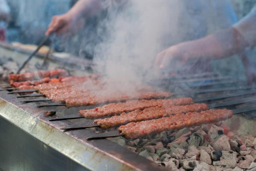 Traditional Turkish Adana Kebab or Kebap