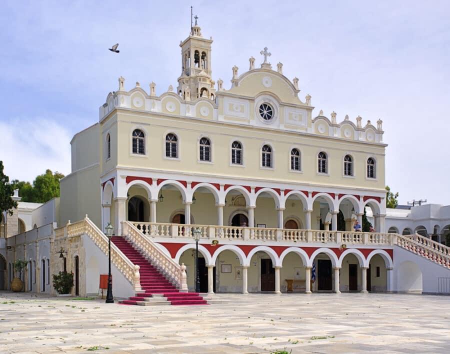 Christian orthodox church of Virgin Mary, in Tinos island, Greece