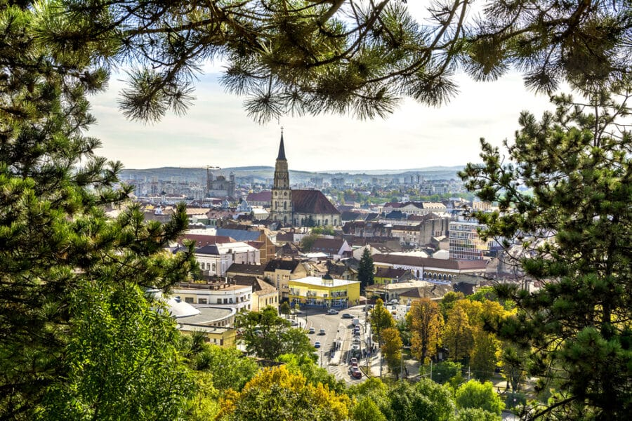 Things to do in Cluj_Cluj Napoca view from Cetatuie on a autumn day