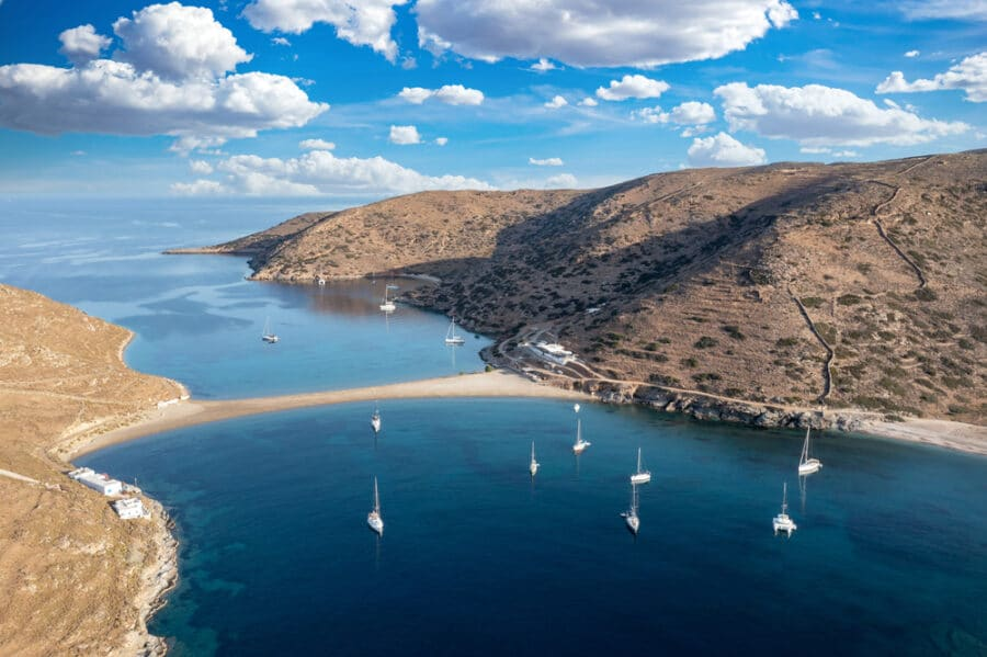 Kythnos Island_Kolona two sided sandy beach