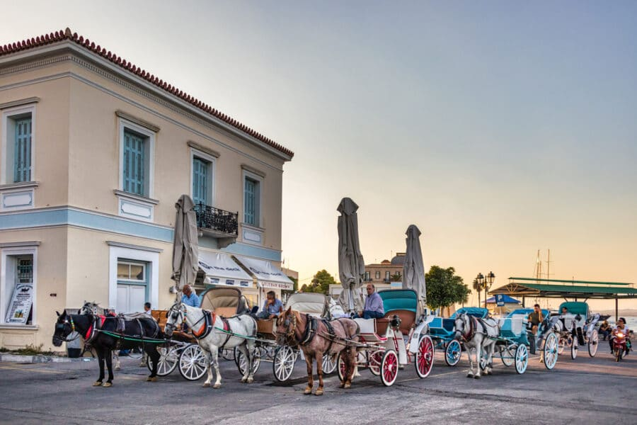 Spetses Island Close To Athens